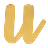 Gold Adhesive Letter - U